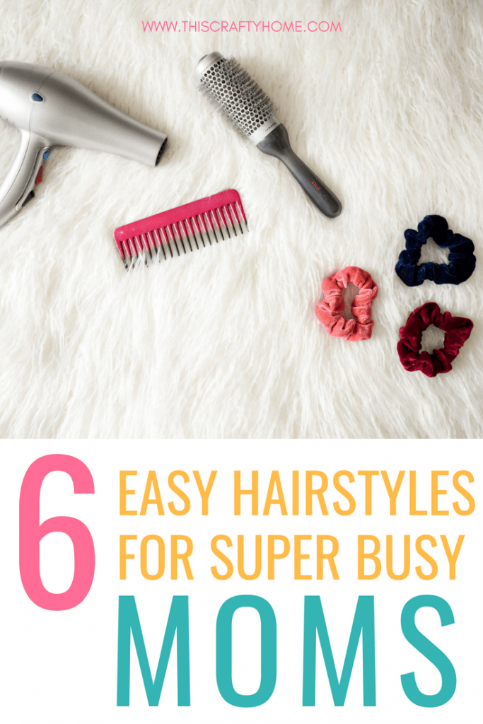 6 easy hairstyles for busy moms! For new moms or veteran moms, we all need help with our hair sometimes. These quick hair tutorials are perfect for a busy day or if you are just feeling a little lazy.