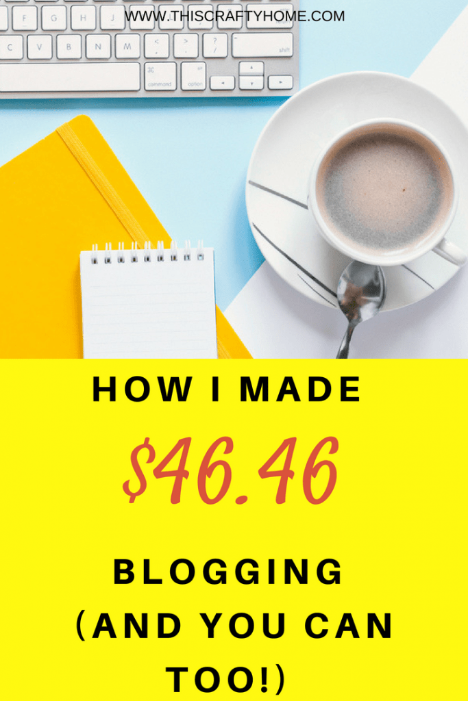How I made money for the first time with my blog! Learn more about making money with a blog and how this beginner was actually able to get pageviews!
