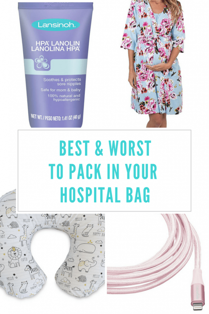 What to pack in your hospital bag for mom's to be! This is a great list of the best must haves for mom and what will just be a waste of space.