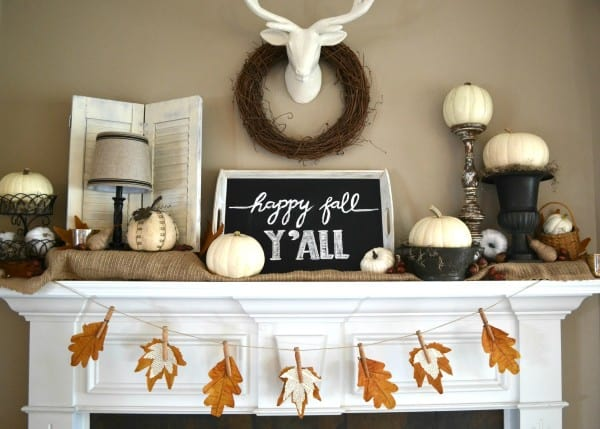 fall diy for adults leaf banner