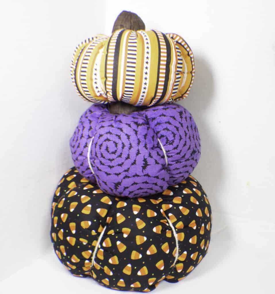 fall diy for adults fabric pumpkins