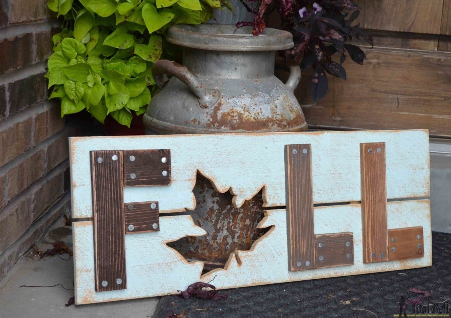diy wooden fall sign craft for adults