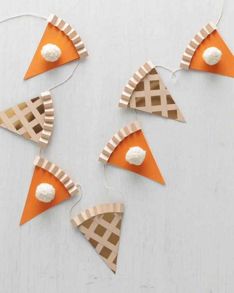 adult fall craft pie garland