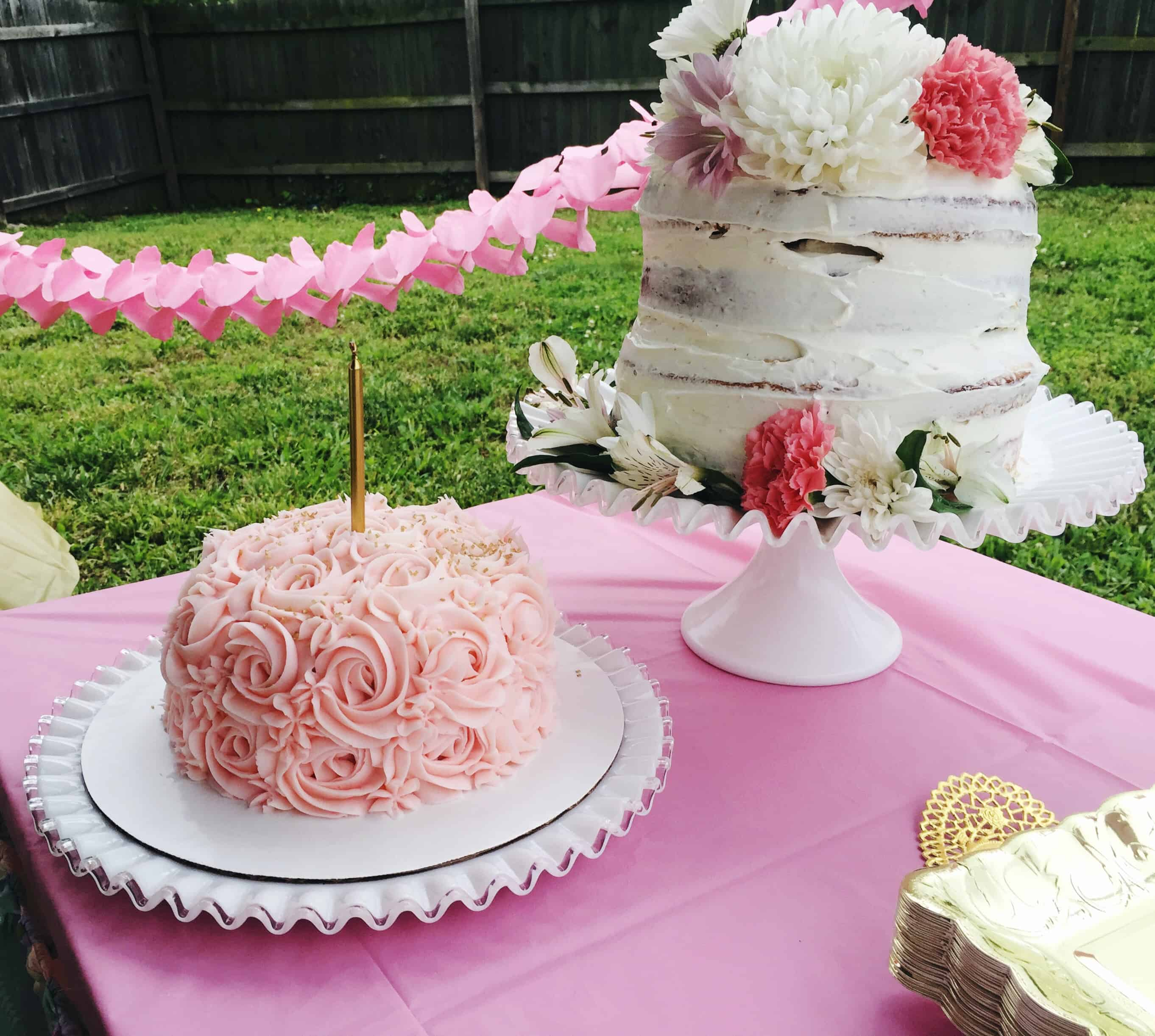 naked cake and smash cake
