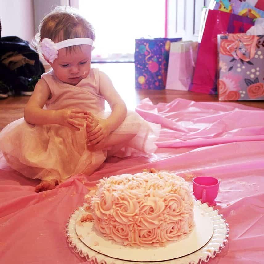 Birthday Girl with her smash cake