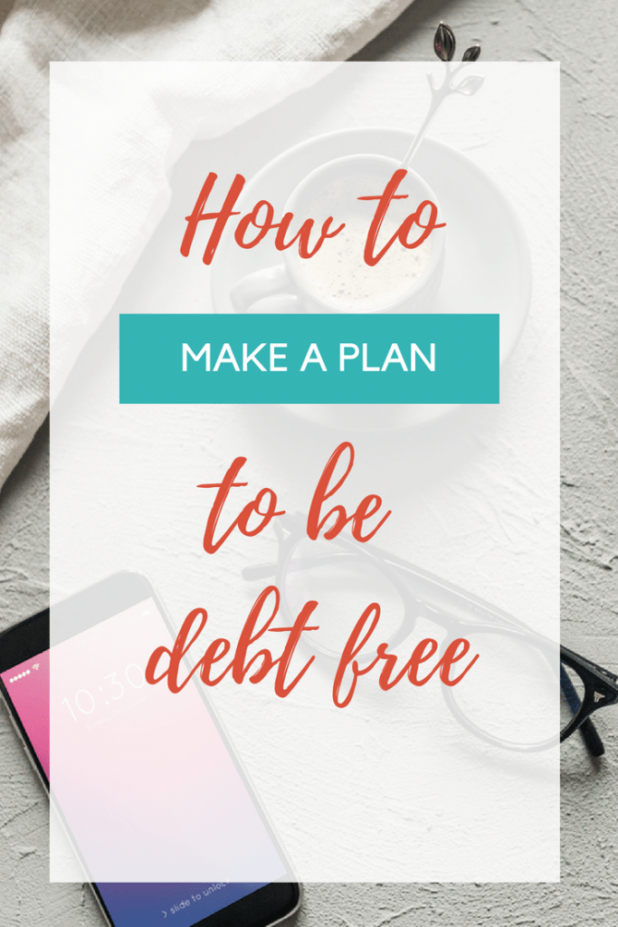 Want to become debt free? Set yourself up for success by making a plan to payoff your debt! We paid off $32,000 in debt in one year with this plan!
