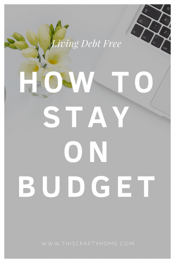 Tips for staying on budget! What we are learning as we try to pay off debt, stay on budget and work towards being debt free.