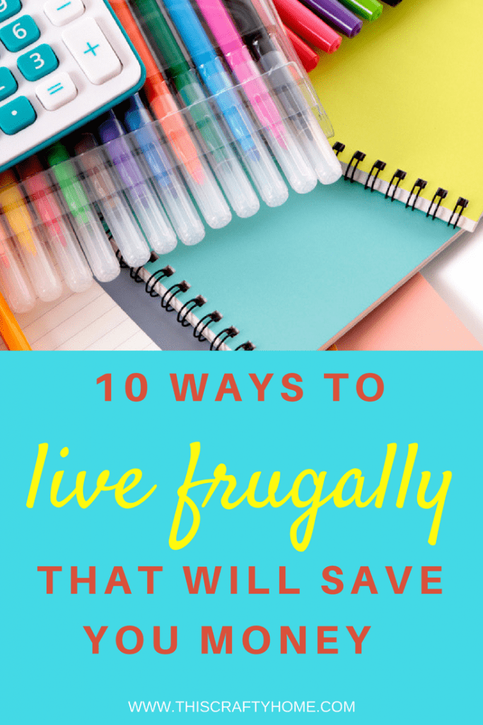 Frugal living ideas for beginners or for veterans! If you love saving money as much as I do you'll love these 10 tips to live a more frugal lifestyle.