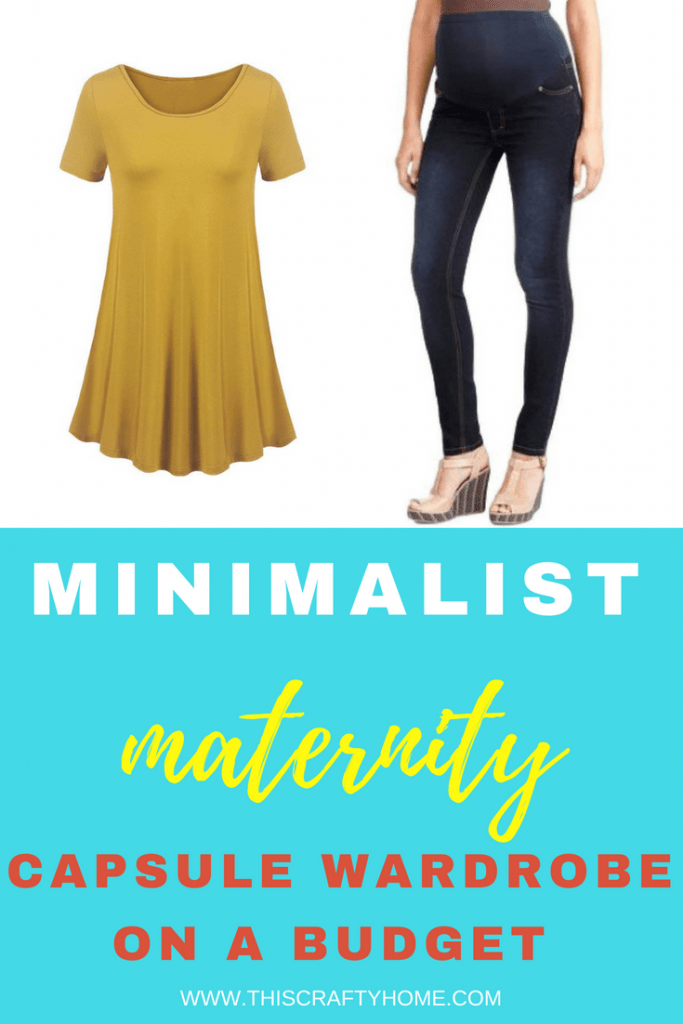 Build your own minimalist maternity capsule wardrobe on a budget! Simple maternity products that work well together and will give you cute inexpensive maternity wardrobe options.