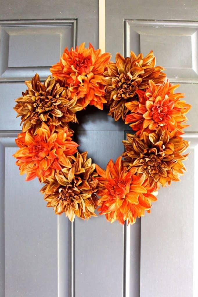 easy fall diy wreath craft for adults