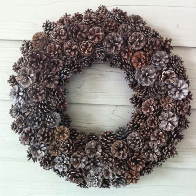 diy pinecone wreath fall adult craft