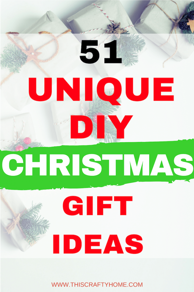 Unique DIY Christmas gifts for all your friends and family! DIY Christmas gifts are a great way to save money at Christmastime without looking cheap.