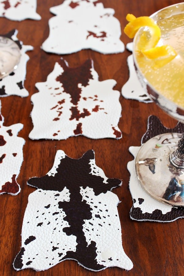 DIY-Mini-Cowhide-Coasters-by-OSBP-creative-diy-christmas-gifts