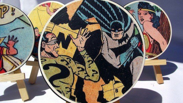 DIY-comic-book-coasters-christmas-gift-creative