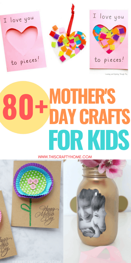 These Mother's day crafts for kids make perfect gifts for mother's day! There is a range of fun easy Mother's day crafts for toddlers and older children for everyone to enjoy!