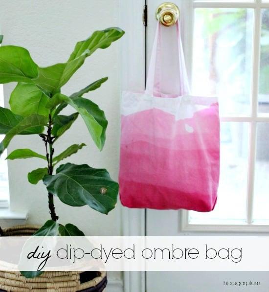 {DIY} Dip-Dyed Ombre Bag