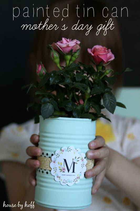 Painted Tin Cans: A Mother's Day Gift Idea