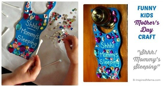 """""""Shhh... Mommy's Sleeping"""" Mother's Day Kids Craft"""