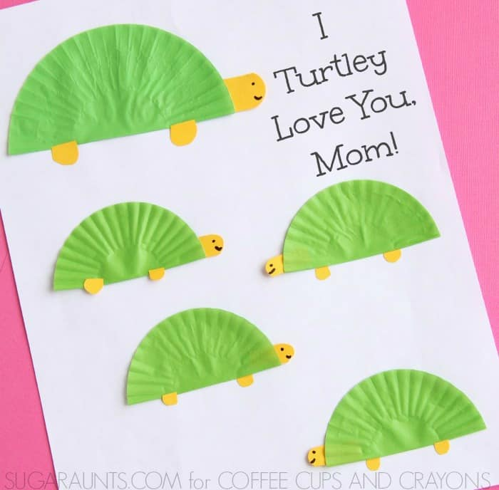 Turtle Themed Mother's Day Card