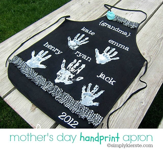 Mother's Day Handprint Aprons