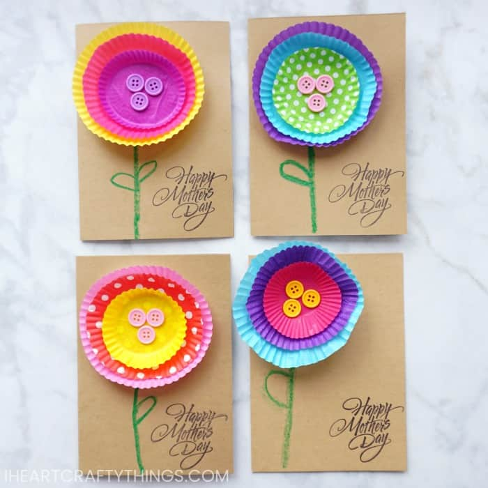 Bright and Cheerful Kid-Made Mother's Day Card