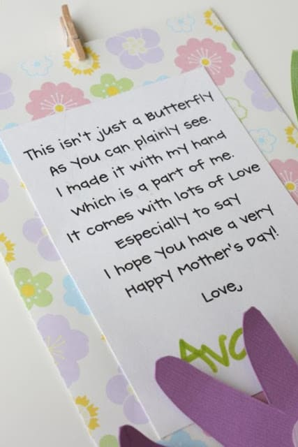 craft: mother's day card and canvas