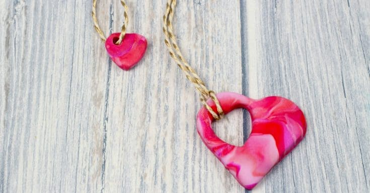 How to make a mother and child heart necklace 17