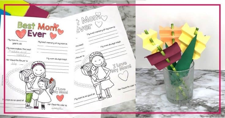 Quick Mother's Day Crafts to Just Print Color and Love