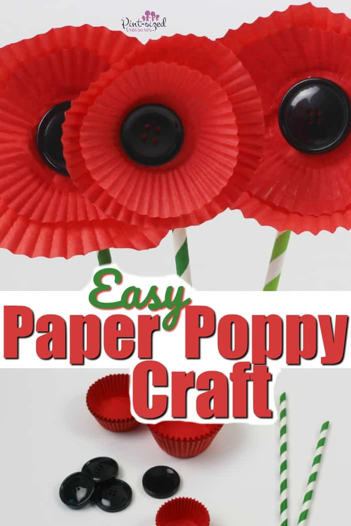 Easy Paper Poppy Craft · Pint-sized Treasures