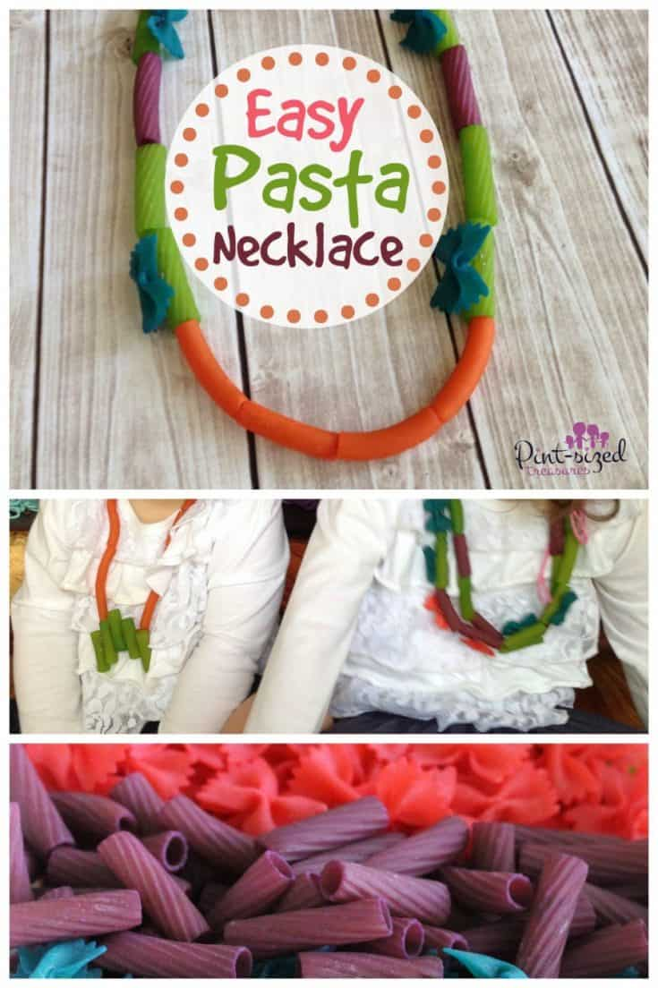 Pasta Necklace Craft --- Cute and Colorful!