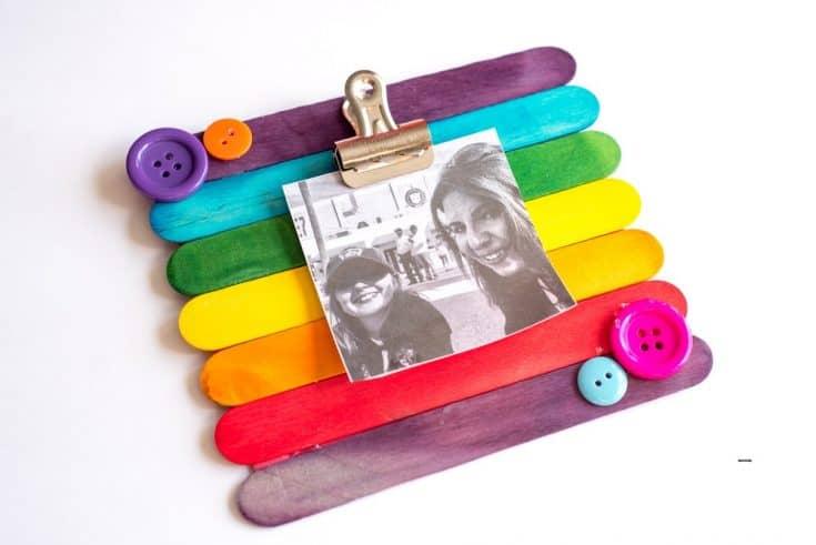 DIY Popsicle Stick Picture Frame – Kids Craft