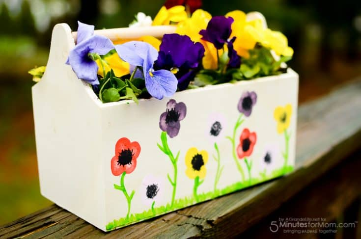 Mother's Day Craft - Flower Thumbprint Planter