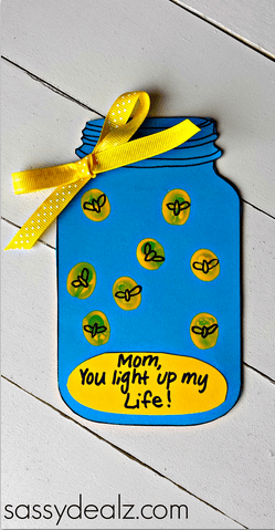"""Firefly """"You Light up my Life"""" Mother's Day Card (Free Printable) - Crafty Morning"""
