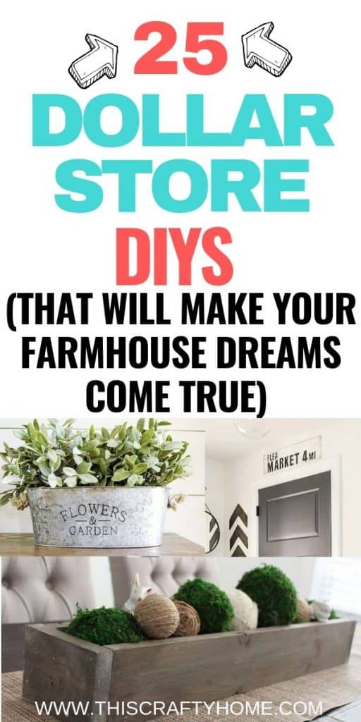 DIY Dollar Tree crafts that will make your farmhouse home decor dreams come true! These Dollar Tree DIY's are super easy!