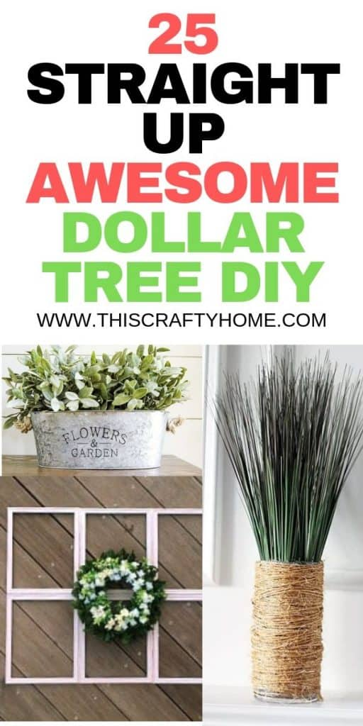 25 DIY Dollar Tree crafts that will make your decor look incredible! Find the best DIY Dollar Tree project for you, and they are SO easy!