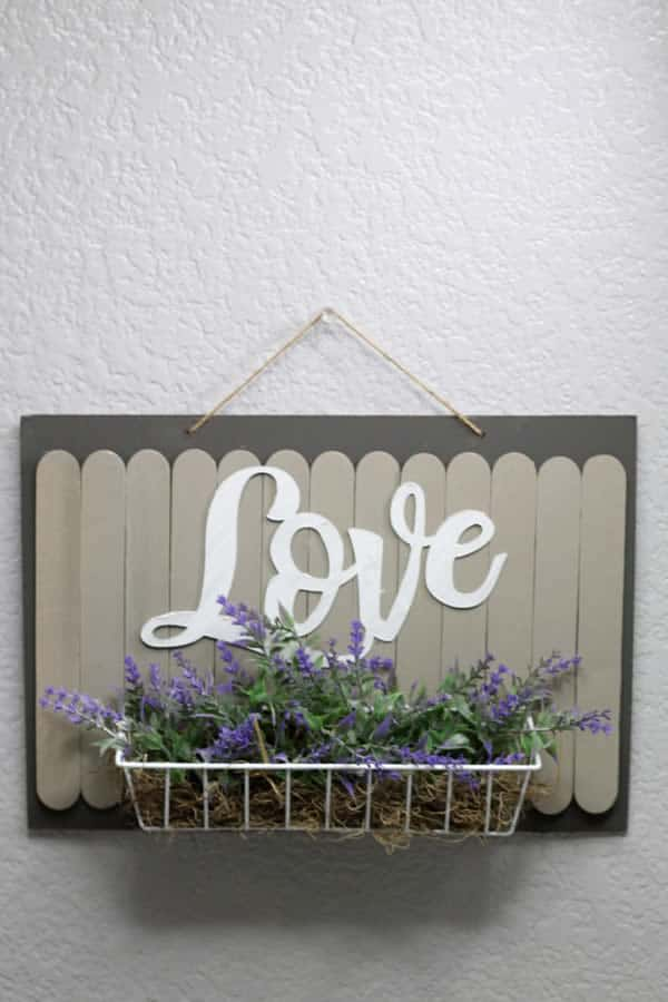 Dollar Store Decor Popsicle Love Sign